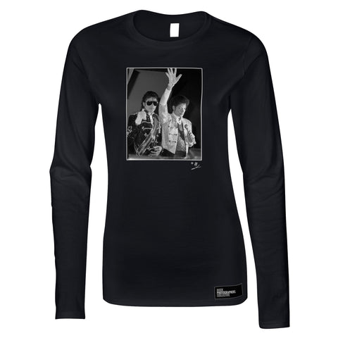 Michael Jackson with waxwork AP Women's Long Sleeve
