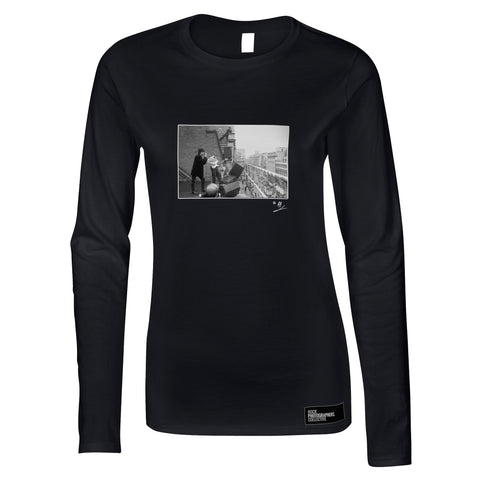 Echo/Bunnymen roof of HMV 1980 AP Women's Long Sleeve