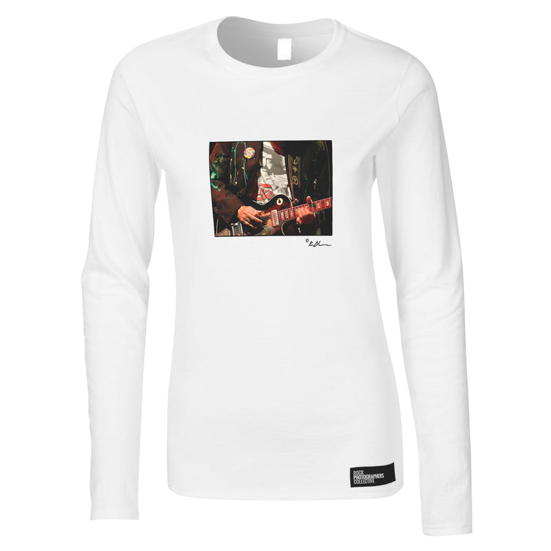 Neil Young live close-up guitar Women's Long Sleeve