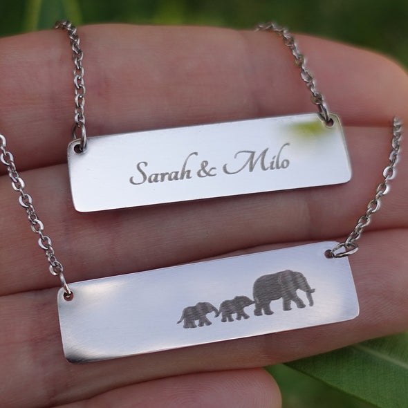 Elephant Family - Personalized Necklaces