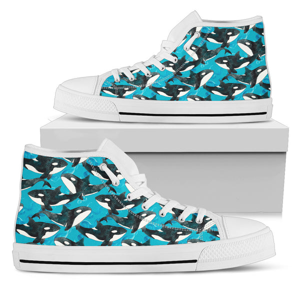Whale Love High-Top Shoes