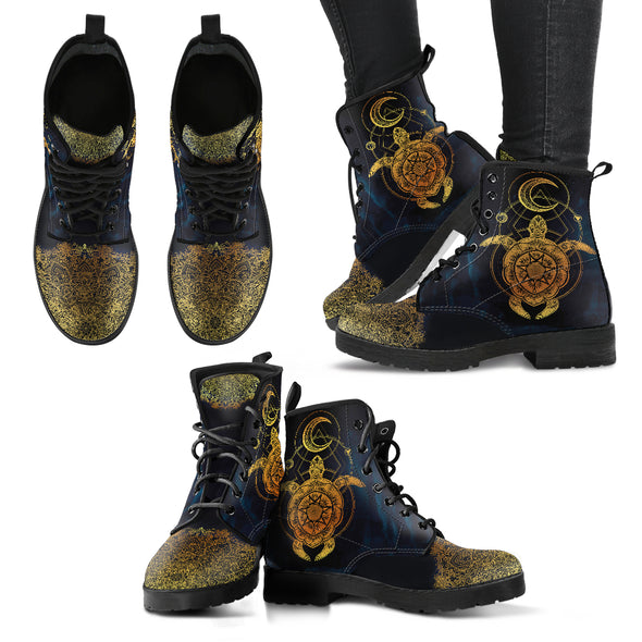 Cosmic Turtle Boots | woodation.myshopify.com