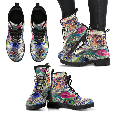 Bohemian Tiger Boots | woodation.myshopify.com