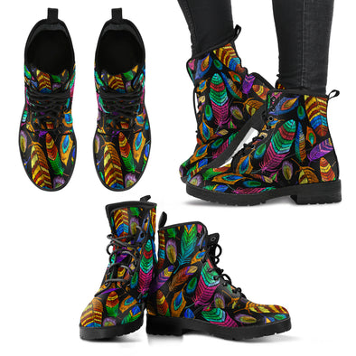Bohemian Feather Boots | woodation.myshopify.com