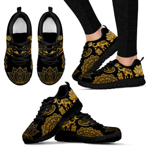 Golden Lotus Elephant Sneakers | woodation.myshopify.com
