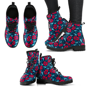 Floral Hibiscus Boots