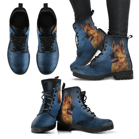Deep Blue German Shepherd Boots