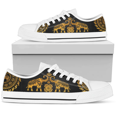 Golden Mandala Shoes | woodation.myshopify.com