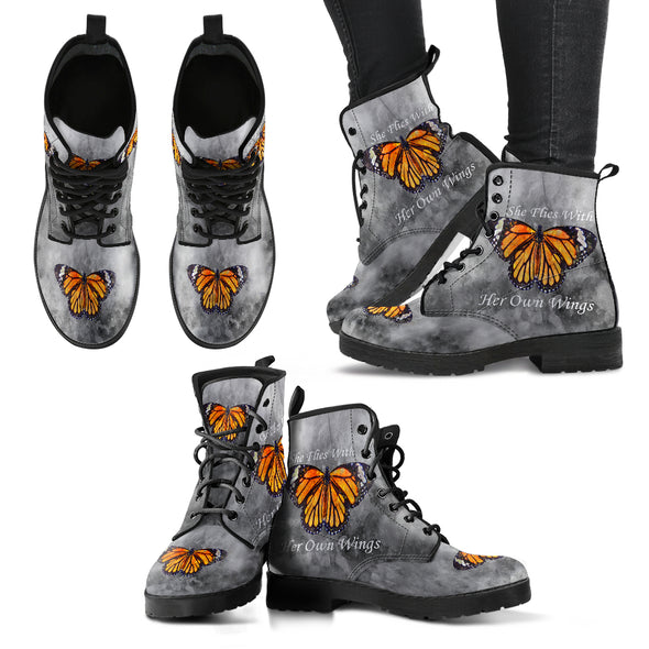 She Flies With Her Own Wings Premium Boots | woodation.myshopify.com