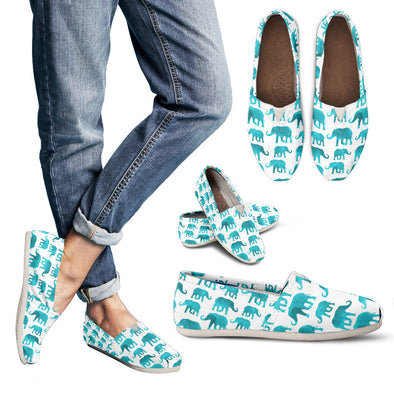 Watercolor Elephant Casual Shoes | woodation.myshopify.com