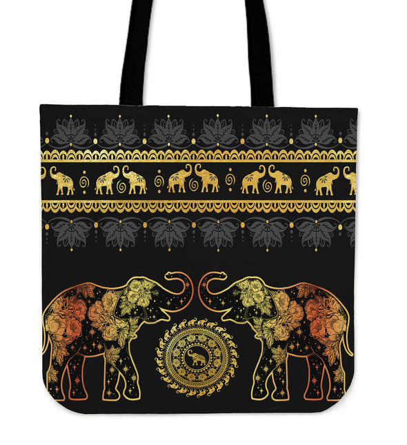 Golden Mandala Tote Bag | woodation.myshopify.com