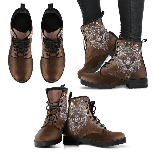 Tribal Wolf Boots | woodation.myshopify.com