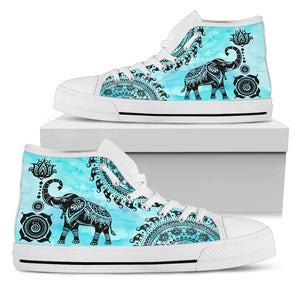 Turquoise Mandala Elephant Shoes