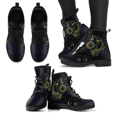 Sun And Moon Boots | woodation.myshopify.com