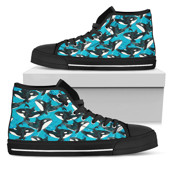 Whale Love High-Top Shoes | woodation.myshopify.com