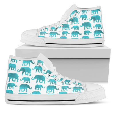 Watercolor Elephant High-Top Shoes | woodation.myshopify.com