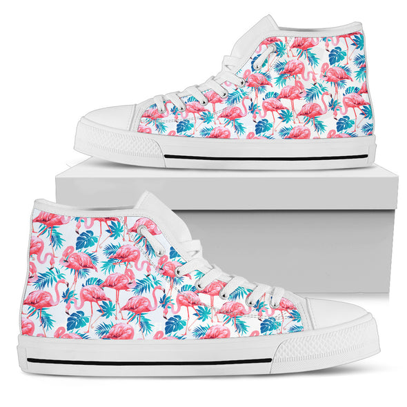 Flamingo Love High-Top Shoes | woodation.myshopify.com