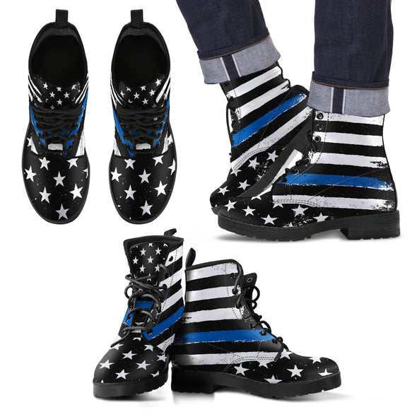 Thin Blue Line Boots | woodation.myshopify.com