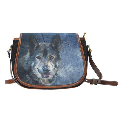 Wild Wolf Saddle Bag | woodation.myshopify.com