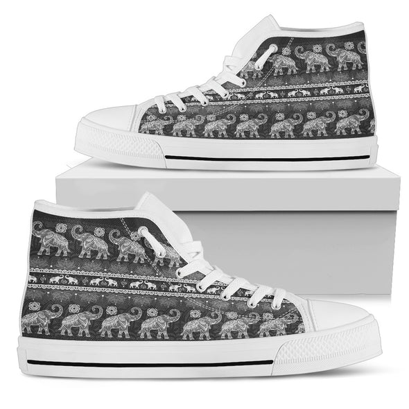Elephant Love High-Top Shoes | woodation.myshopify.com
