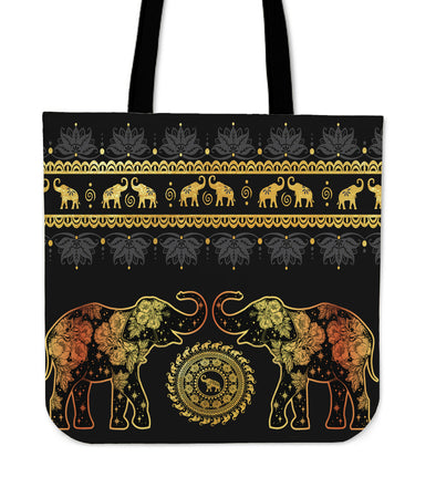 Golden Mandala Premium Tote Bag | woodation.myshopify.com