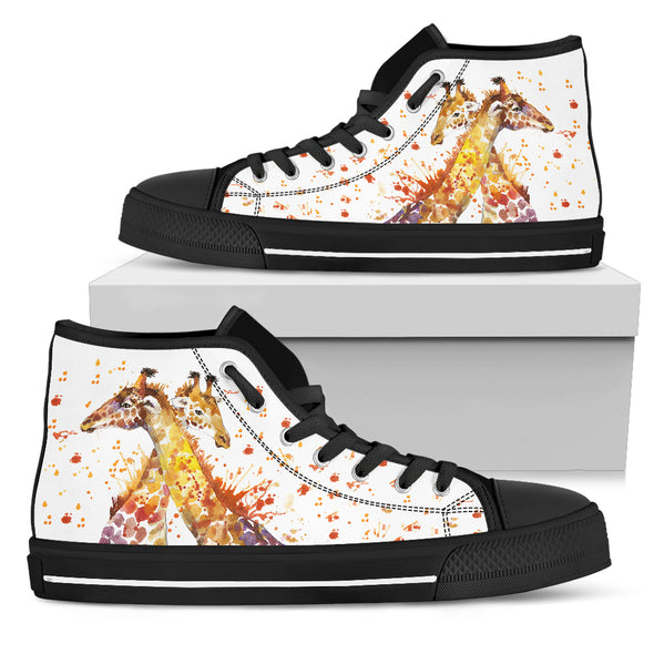 Giraffe Love High-Top Shoes