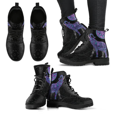 Purple Mandala Elephant Boots | woodation.myshopify.com