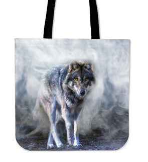 Mystical Wolf Premium Tote Bag | woodation.myshopify.com