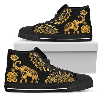 Golden Mandala Elephant Shoes