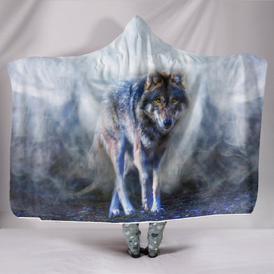 Spiritual Wolf Hooded Blanket