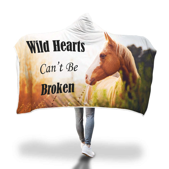 Wild Hearts Can't Be Broken Hooded Blanket | woodation.myshopify.com