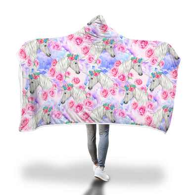 Unicorn Love Hooded Blanket | woodation.myshopify.com