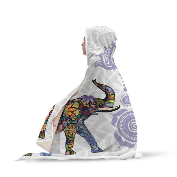 Lucky Bohemian Elephant Hooded Blanket | woodation.myshopify.com