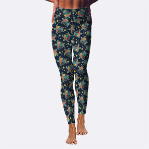 Bohemian Turtle Performance Leggings | woodation.myshopify.com