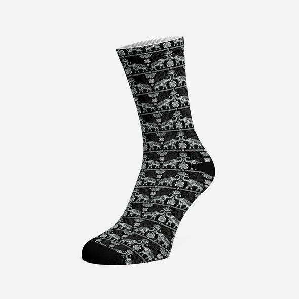 Womens's Grey Mandala Socks | woodation.myshopify.com