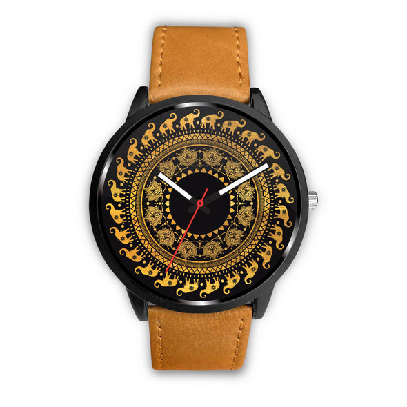 Golden Mandala Premium Watch | woodation.myshopify.com