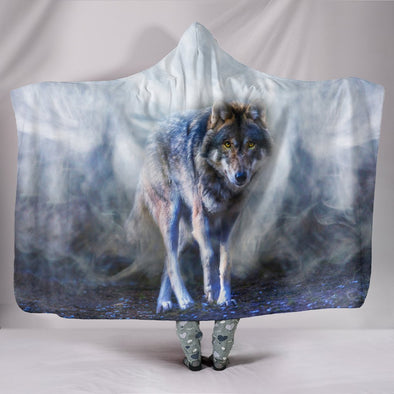 Mystical Wolf Hooded Blanket