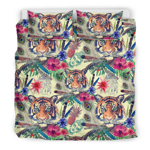 Bohemian Tiger Bedding Set | woodation.myshopify.com