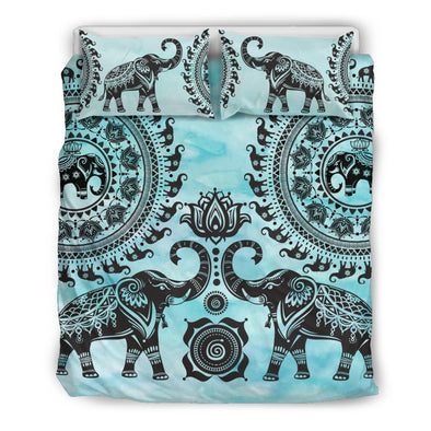 Mandala Watercolor Bedding Set | woodation.myshopify.com