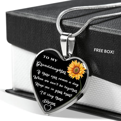 To My Granddaughter - Heart Necklace