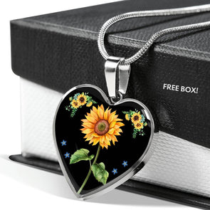 Sunflower Love - Heart Necklace