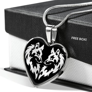 Wild Wolf - Heart Necklace