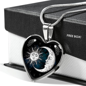 Sun & Moon - Heart Necklace