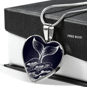 Whale Love - Heart Necklace