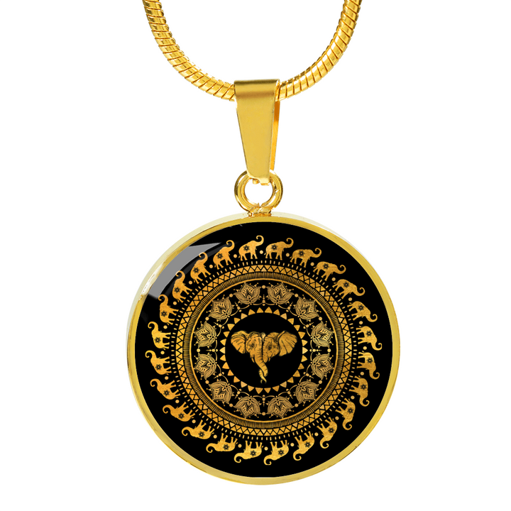 Golden Mandala Luxury Necklace