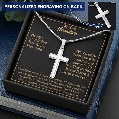 Personalized Artisan Cross Necklace