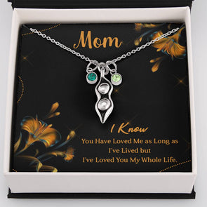 To My Mom - Peas In A Pod Necklace