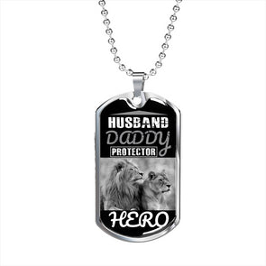 Lion Couple - Military Necklace