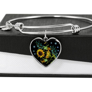Bohemian Sunflower - Heart Bangle
