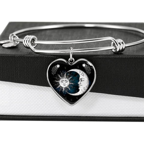 Sun & Moon - Heart Bangle